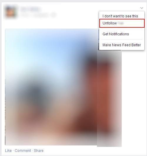 לבטל מעקב אחר מישהו בפייסבוק